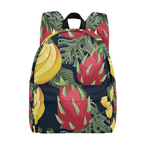 Tropische Fruit Patroon Plant School Rugzakken Kids Boek Tas Tiener Student Meisje Vrouwen College Rugzak Boekentas Mode Reizen Daypack