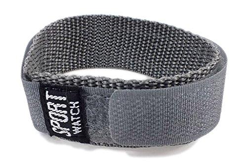 Minott Ersatzband Uhrenarmband Sport-Watch Durchzugsband Band Grau 18-20mm