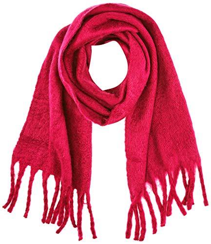 Only Onlemma Solid Heavy Brushed Woven Scarf Bufanda, Rosa (Virtual Pink Virtual Pink), Talla Única para Mujer