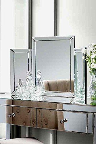 My-Furniture - Muebles de Espejo para el Dormitorio – COLLETA - Espejo de tocador Triple Plegable