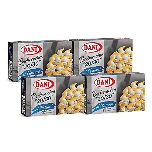 Dani - Berberechos 20/30 al natural - Gigantes - Pack 4 x 111 gr.
