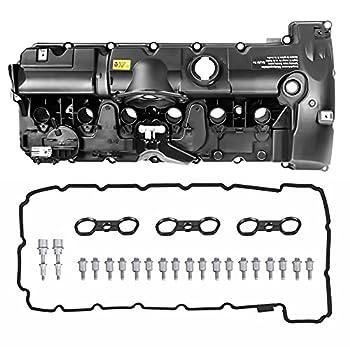 MOSTPLUS 11127552281 Engine Valve Cover Compatible for BMW E70 E82 E90 E91 Z4 X3 X5 128i 328i 528i