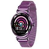 AOCKS H2 Smart Watch Blood Pressure Heart Rate Monitor Sport Waterproof Bracelet New Fitness Tracker (Purple)