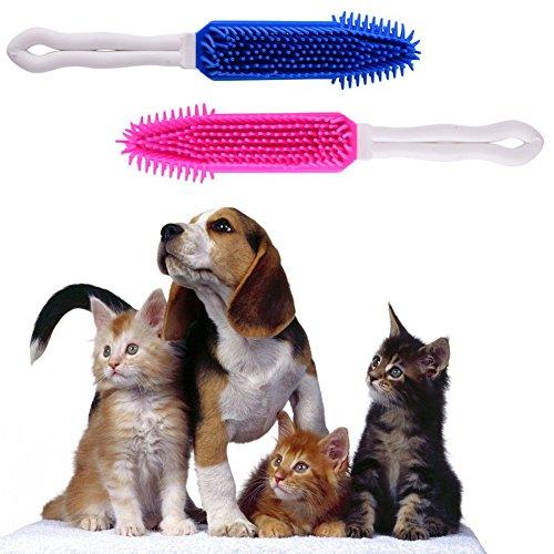 BAKAJI Spazzola per Cani e Gatti Silicone 27cm 3 Colori...