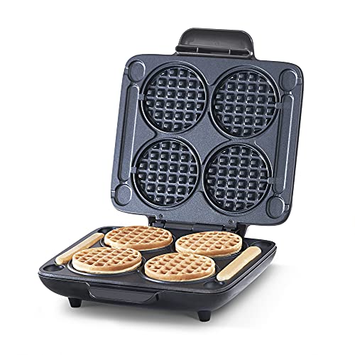 Dash DMMW400GBGT04 Multi Mini Four Waffle Maker: Perfect for Families and Individuals, 4 Inch Dual Non-stick Sides with Quick Release & Easy to Clean,...