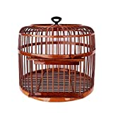 Hkwshop Jaula para pájaros Jaula de pájaros Hecha a Mano Loro Canario Canario Adecuado para la cría de Aves Jaula pájaros (Color : Brown)