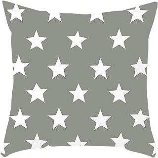 Amesii Elegante funda de cojín con diseño de estrellas suave para sofá, cama, decoración del hogar, 5