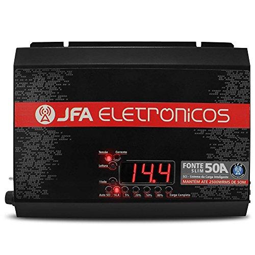 Fonte Carregador JFA Bateria 50A Bbivolt Automatico SLIM