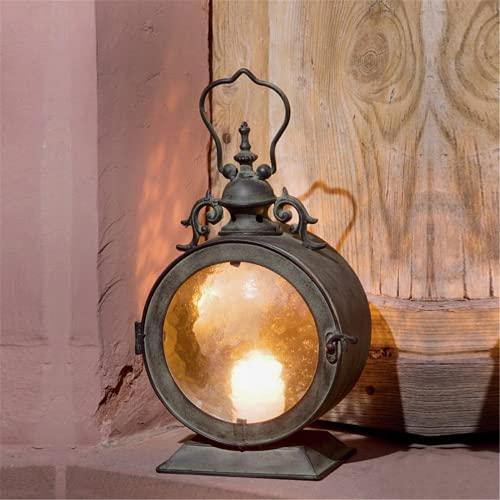 TLJF Portavelas vintage de metal + cristal de pared europeo para colgar en forma de vela de ceremonia nupcial, candelabro colgante, farol, juego portavelas para decoración de interiores