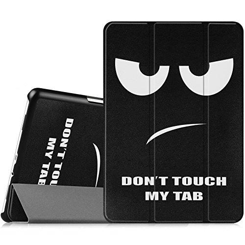 Fintie Hülle für Samsung Galaxy Tab A 9.7 ZollT550N / T555N Tablet-PC - Ultra Schlank Superleicht Ständer SlimShell Cover Schutzhülle Etui mit Auto Schlaf/Wach Funktion, Don't Touch