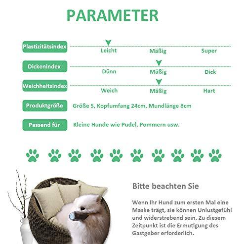 Kricson Masken für Hunde 3 Stück Anti Atmosphärischer Dunst Filter Mundschutz Maske für Haustiere Giftköder Schutznetz Maulkorb Giftköder PM2.5 Schutzmaske Betätigungen im Freien (S) - 6