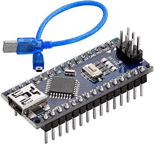 AZDelivery Nano V3.0 con ATmega328 Chip CH340 y 5V 16MHz versión soldada, Micro Controlador Board, versión mejorada con Cable USB, compatible con Nano V3 con E-Book incluido!