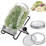 Kit per germogliare semi, germogliatore da interno 907,2 g per fare germogli Mason Jar per germogliare...