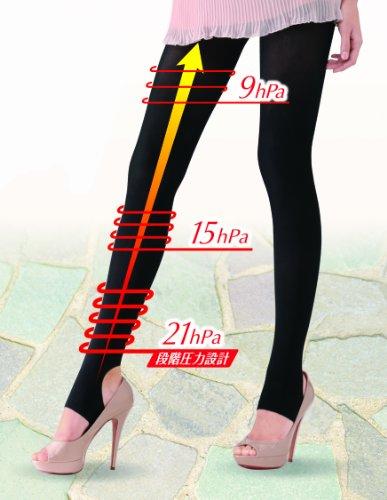 『スリムウォーク 美脚トレンカ S-Mサイズ ブラック(SLIM WALK,stirrup leggings,SM)』の3枚目の画像