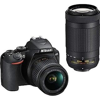 Nikon D3500 DX-Format DSLR Two Lens Kit with AF-P DX NIKKOR 18-55mm f/3.5-5.6G VR & AF-P DX NIKKOR 70-300mm f/4.5-6.3G ED, Black (B07GW23M7T)   Amazon price tracker / tracking, Amazon price history charts, Amazon price watches, Amazon price drop alerts