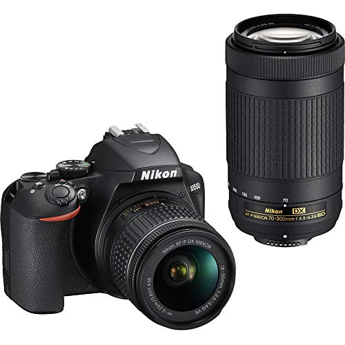Nikon D3500 DX-Format DSLR Two Lens Kit with AF-P DX NIKKOR 18-55mm f/3.5-5.6G VR & AF-P DX NIKKOR...