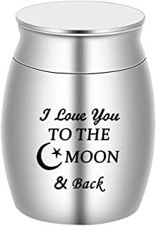 BGAFLOVE Cremation Urn Keepsake Mini Urns for Ashes for Human Ashes & Pet Ashes - I Love You to The Moon & Back