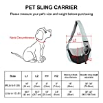 You Pet Dog Sling Carrier, Breathable Mesh Travelling Pet Hands-Free Sling Bag Adjustable Padded Strap Front Pouch Single Shoulder Bag for Dogs Cats 14