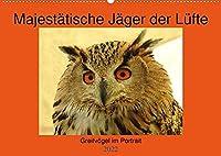 Majestaetische Jaeger der Luefte (Premium, hochwertiger DIN A2 Wandkalender 2022, Kunstdruck in Hochglanz): Greifvoegel im Portrait (Monatskalender, 14 Seiten )
