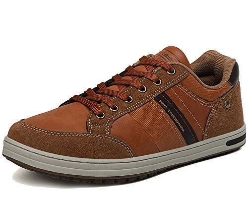 AX BOXING Zapatos Hombre Vestir Casual Zapatillas Deportivas Running Sneakers Corriendo Transpirable Tamaño 40-46 (MARRÓN Z, Numeric_42)