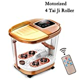 Foot Spa Massage with Motorized Tai Ji Massage - 4 Pro-Set Program - Time Setting, Surfing & Heating, Auto-Massage, Bubble Oxygen Ozone Sterilization