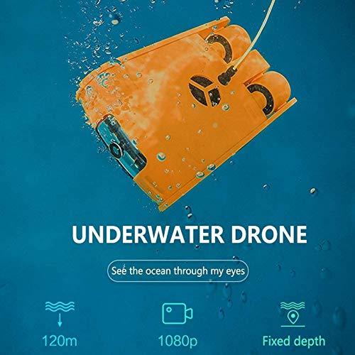 aipipl Dron subacuático, cámara 4K, Captura de Buceo, búsqueda y Rescate, Robot subacuático, Memoria de 32G, Cable de 100 m con Control Remoto, Adecuado para Trabajos subacuáticos