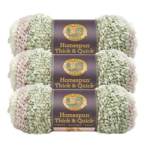 (3 Pack) Lion Brand Homespun Thick and Quick Yarn (792-213 Antique Stripes) -  LB792