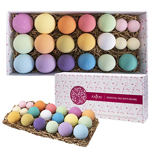 Bath Bombs Gift Set, Anjou 20 Pack Natural Essential...