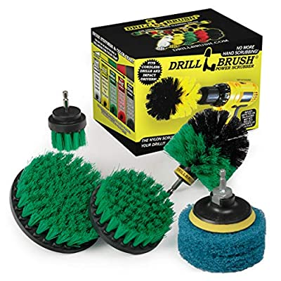 Kitchen - Drill Brush - Cleaning Supplies - Scrub Pads - Kitchen Accessories - Household Cleaner - Scouring Pad Kit - Oven - Stove - Cooktop - Sink - Cast Iron Skillet - Frying Pan - Pots and Pans