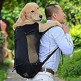 Mochila De Viaje Al Aire Libre Ajustable para Perros Y Mascotas para Senderismo, Ciclismo, Bolsa De Transporte Reflectante para Perros, Bolsas De Transporte De Bulldog Francés Pug M Negro