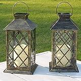 Farolillos Solares Exterior | 2 Piezas | Linterna Con Vela De Led | Decoracion Terraza Exterior | IP65-Impermeable