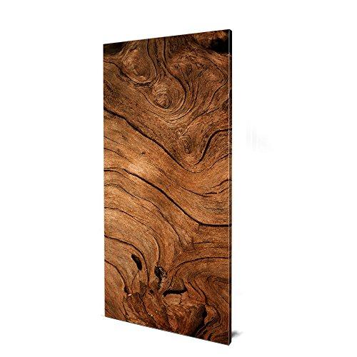 banjado Design Magnettafel groß | Magnetwand grau 78x37cm grau | Pinnwand magnetisch mit Magneten und Montageset | Magnetpinnwand mit Motiv Trockenes Holz