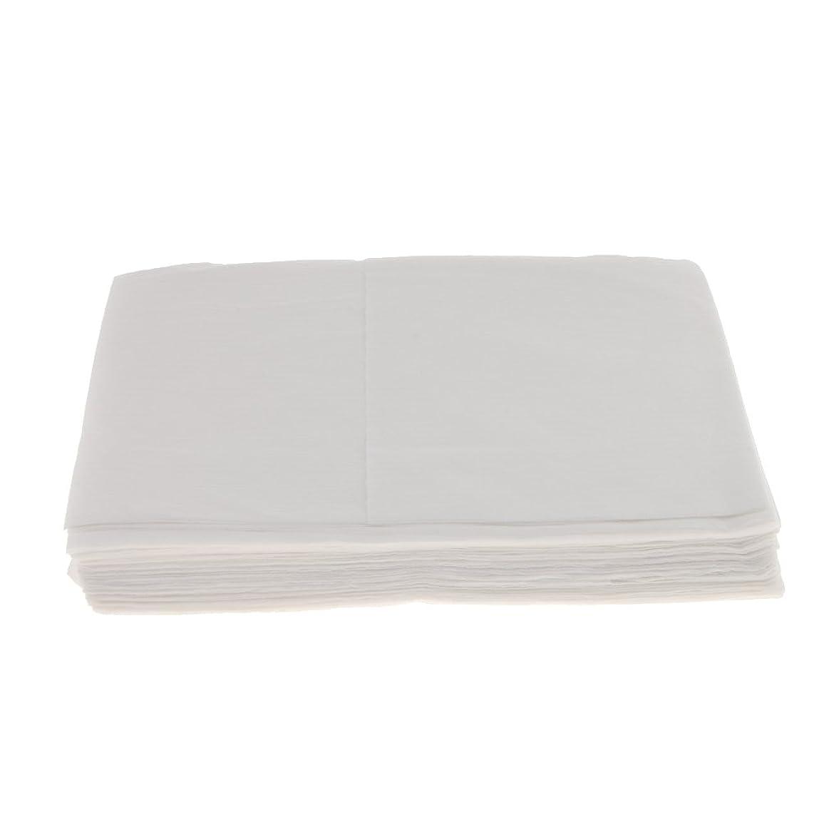 これら気分死の顎Baosity 10枚 使い捨て ベッドシーツ サロン ホテル ベッドパッド カバー シート 2色選べ - 白