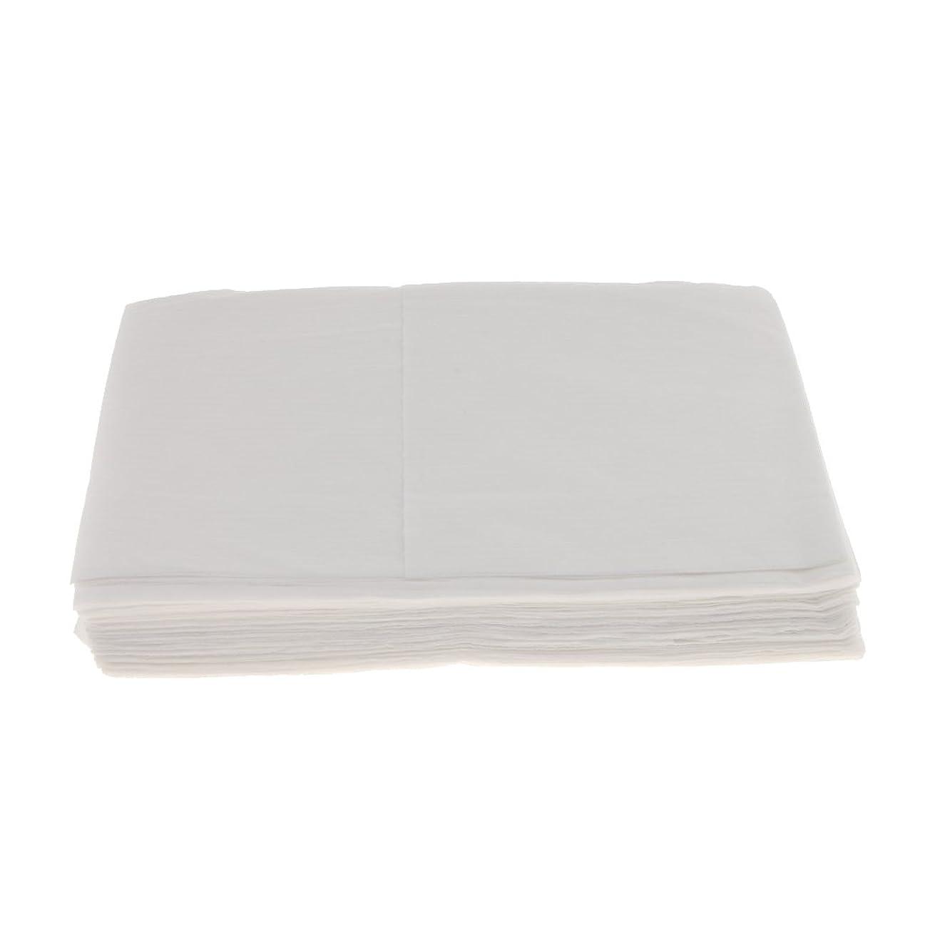 思い出評価それBaosity 10枚 使い捨て ベッドシーツ サロン ホテル ベッドパッド カバー シート 2色選べ - 白