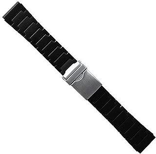 23mm Black Polyurethane Rubber Link Bracelet Watch Band Luminox 3050 3950 Navy Seal COLORMARK
