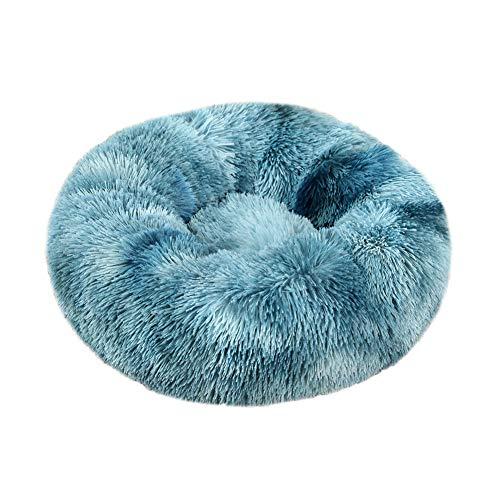 XDKS Cama de peluche para gatos, donut, para perros, gatos, donut, sofá suave, antideslizante, lavable a máquina (4XL, teñido anudado)