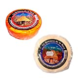 Lote Quesos Extremeños - 1 queso de Cabra semicurado con pimentón y 1 queso de Cabra semicurado al natural - La Quesera de la Vera