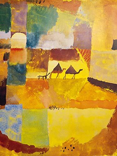 1art1 Paul Klee - Zwei Kamele Und EIN Esel, 1919 Poster Kunstdruck 80 x 60 cm