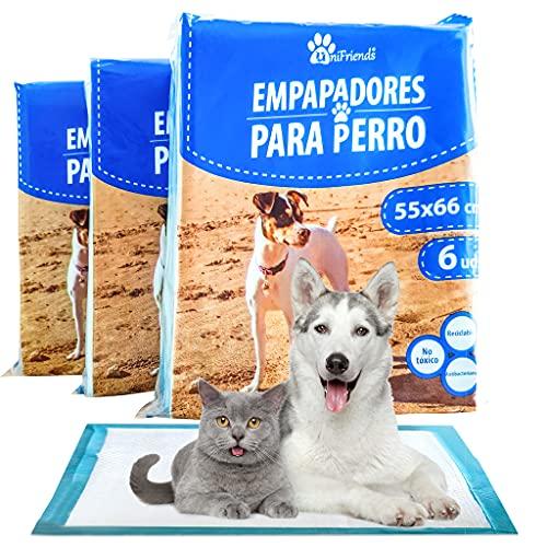 nna Empapadores Perro y Gato 55x66cm- 18 Alfombrilla Higienica para Mascotas-Empapaderas WC Perros-Empapadores de Adiestramiento Absorbentes con Feromonas