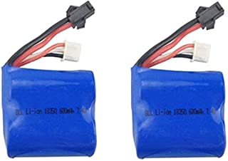 Fytoo 2PCS battery for Syma Q2 Q3 Skytech H100 H102 H106 7.4V 600mah Li Battery RC Boat Accessories Ship Lithium Battery