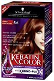Schwarzkopf Keratin Color Permanent Hair Color Cream, 5.6 Warm Mahogany(Packaging May Vary)