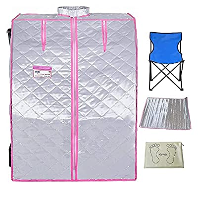 LUCHEN Portable Sauna for Home Weight Loss Personal Saunas with Heating Foot Pad
