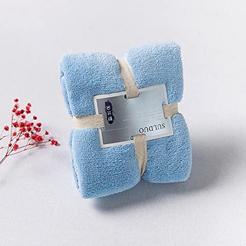 IAMZHLToalla Multicolor de 80 * 36cm Toalla de baño para el hogar Toalla de Microfibra para el Cabello de Secado rápido y sólido Toalla de Cara para Mujer Toalla Absorbente - Azul Cielo, China, 1pc