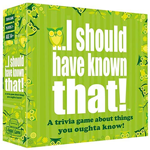 BDWN El Super Juego¡Debería de Haber sabido eso! Juego de Preguntas, Juego de Cartas de Estrategia para Adultos y Adolescentes y Juego de Mesa de Fiesta I Should Have Known That! Trivia Game