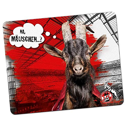 1. FC Köln Mousepad / Mauspad Hennes - plus gratis Aufkleber forever Köln