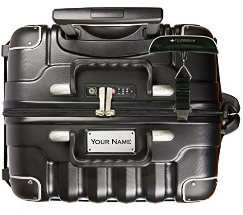 Bundle - 2 items: VinGardeValise 12 Bottle Wine Travel Suitcase with Personalizable nameplate, FlyWithWine Digital Luggage Scale - Black