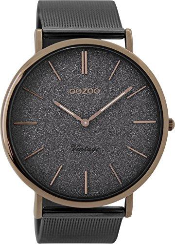 OOZOO Timepieces Damenuhr Metallband Analog Quarzwerk Milanaise C8860