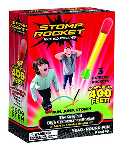 The Original Super High Performance Stomp Rocket -3 Rockets and Rocket Launcher-Outdoor Rocket Toy Gift for Boys and Girls Ages 9 Years and Up-Great for Outdoor Play with friends in the backyard&parks