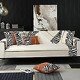 Fsogasilttlv Simplicidad Moderna Elastica Funda de Sofa para Cojines Individuales, Fundas de Almohada Decorativas Modernas, Exteriores Fundas de Almohada de Lujo para sofá Cama, Blanco 28 * 35 Inch