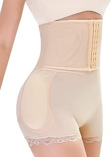 Women Tummy Control Shorts Body Shaper Padded Butt Briefs Booster Hip Enchancer Underwear Slimming Shapewear